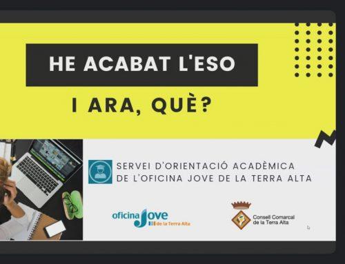[EDUCACIÓ] El SOE atén prop de 250 alumnes en matèria d'assessorament educatiu especialitzat