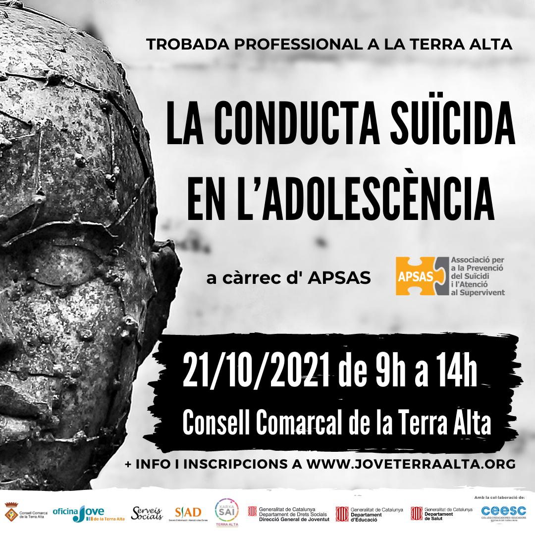 [FORMACIÓ] Jornada Professional 2021: La conducta suïcida en l'adolescència